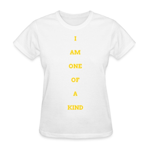 WOMEN I AM OOAK SHIRT WHITE/GOLD - Women's T-Shirt