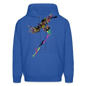 Colorful flying bird Men's Hoodie - Men's Hoodie