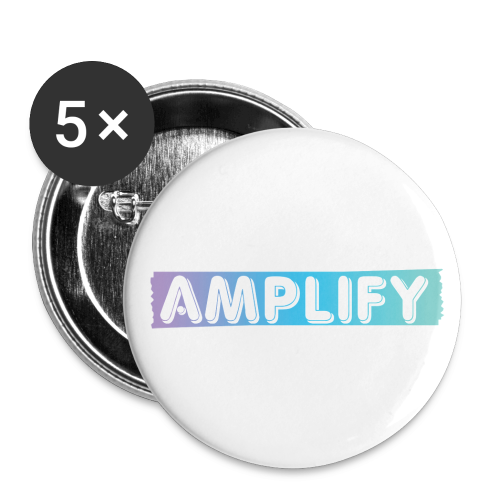 AMPLIFY Logo Large Buttons - Buttons large 2.2'' (5-pack)