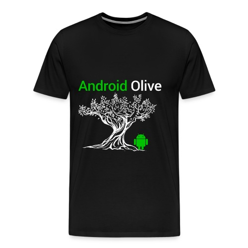 Android 8.0 Olive - Men's Premium T-Shirt