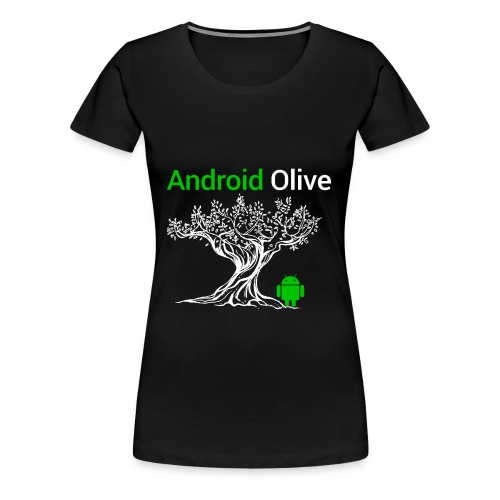 Android 8.0 Olive - Women's Premium T-Shirt