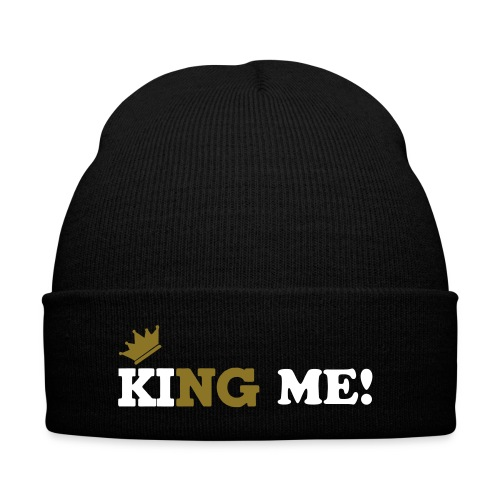 King Me Clothing beanie - Knit Cap with Cuff Print