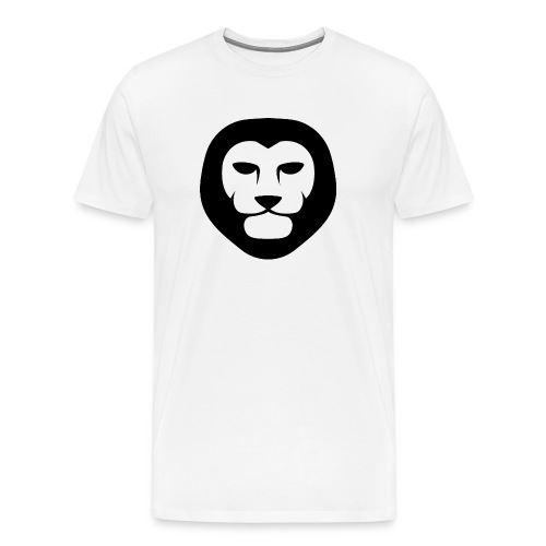 Men's Lion Head T-Shirt (White) - Men's Premium T-Shirt