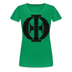 Women's Green Logo - Women's Premium T-Shirt