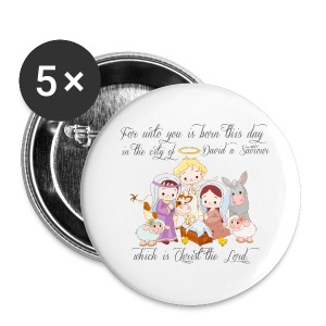 Baby Jesus Manger Scene Large pin buttons - Large Buttons