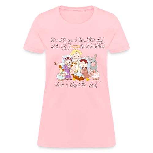 Baby Jesus Manger Scene Women's T-shirt - Women's T-Shirt