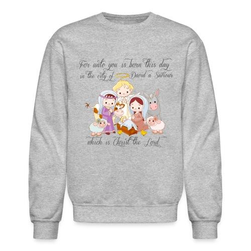 Baby Jesus Manger Scene Sweatshirt - Crewneck Sweatshirt