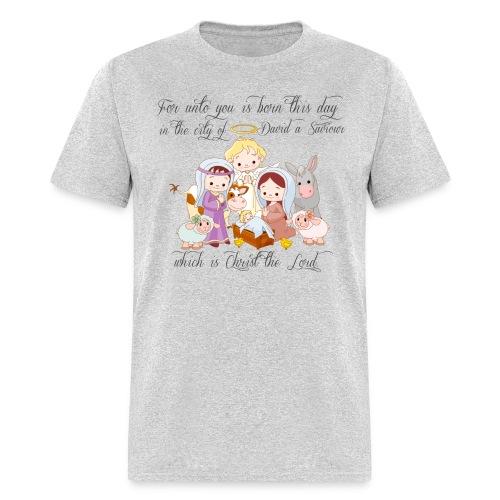 Baby Jesus Manger Scene T-shirt - Men's T-Shirt