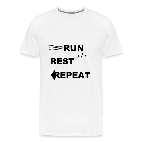 Run, Rest, Repeat (Men's) - Men's Premium T-Shirt