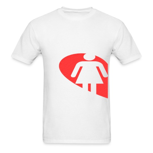 Love Female (White) - Men's T-Shirt
