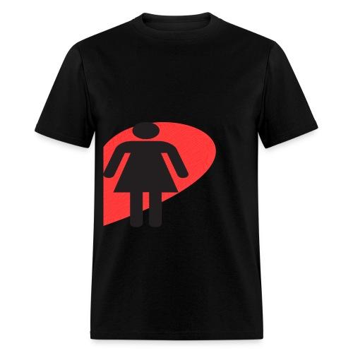 Love Female (Black) - Men's T-Shirt
