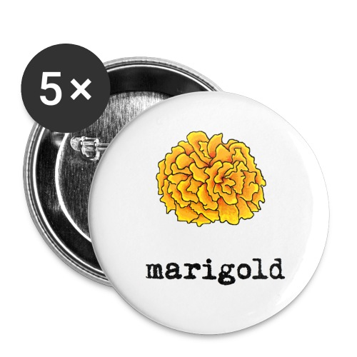 Marigold Buttons - Buttons small 1'' (5-pack)