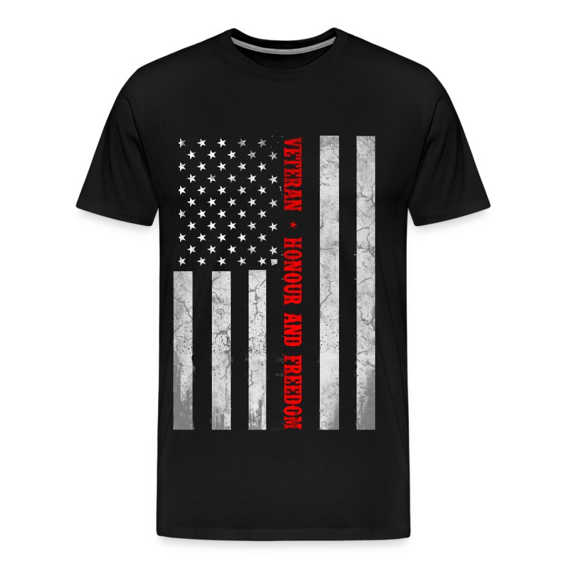 Veteran flag honor and freedom us flag t shirt for Veteran t shirts patriotic t shirts