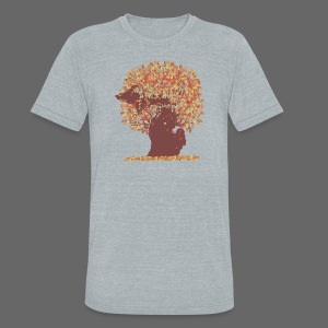Michigan Autumn Tree - Unisex Tri-Blend T-Shirt by American Apparel