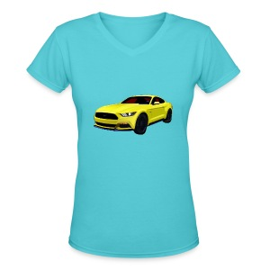 2014 Mustang Lady V-Neck - Women's V-Neck T-Shirt