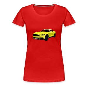 2014 Mustang Lady Fitted T - Women's Premium T-Shirt
