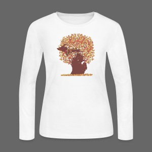 Michigan Autumn Tree - Women's Long Sleeve Jersey T-Shirt