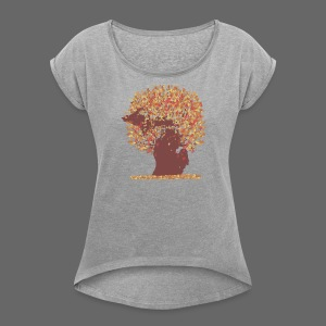 Michigan Autumn Tree Shirt - Women's Roll Cuff T-Shirt