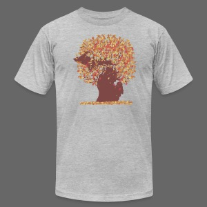 Michigan Autumn Tree - Men's T-Shirt by American Apparel