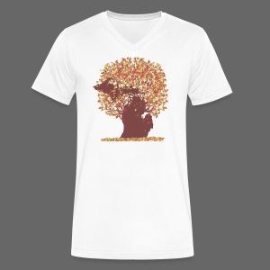 Michigan Autumn Tree - Men's V-Neck T-Shirt by Canvas