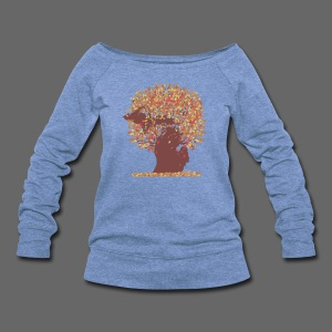 Michigan Autumn Tree - Women's Wideneck Sweatshirt