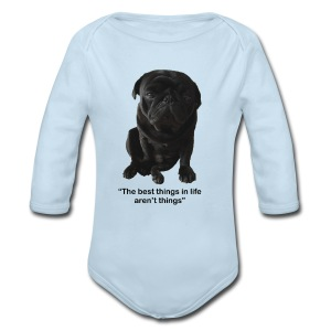Best things in life - Long Sleeve Baby Bodysuit