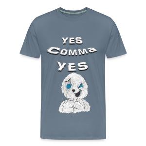 Puppet Devall Yes Comma Yes Mens Premium T-Shirt - Men's Premium T-Shirt