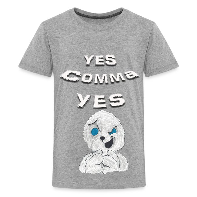 """Puppet Devall """"Yes Comma Yes"""" Kids Premium T-Shirt"""