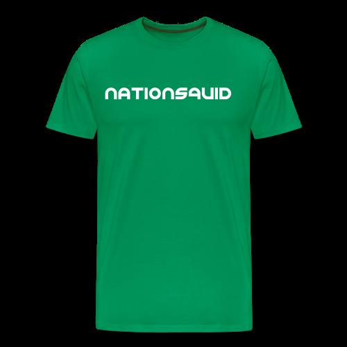 NationSquid Men's Green T-Shirt - Men's Premium T-Shirt