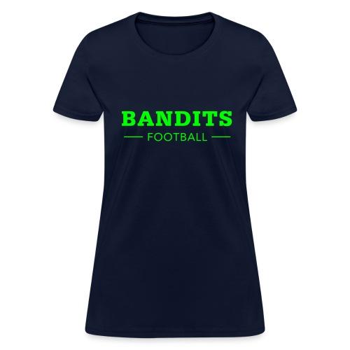 Ladies Navy & Neon Bandits Football - Women's T-Shirt