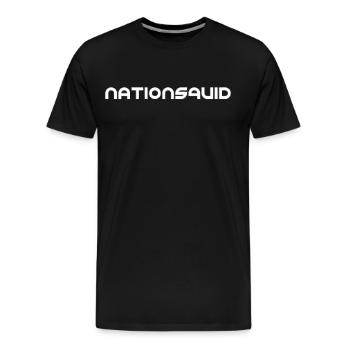 NationSquid Men's Black T-Shirt - Men's Premium T-Shirt