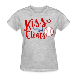 Kiss My Cleats - Women's T-Shirt