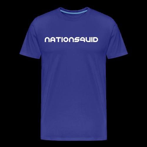 NationSquid Men's Blue T-Shirt - Men's Premium T-Shirt