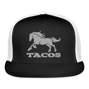 Motor Oil Black Silver Glitz TACO Trucker by TIMØ for Tacos El Caballo Taco Truck - Trucker Cap