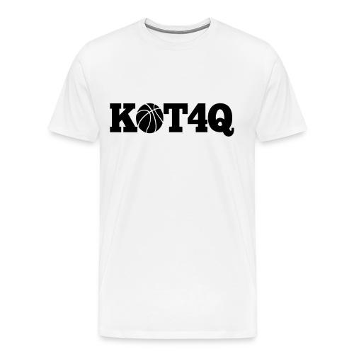 Black and White KOT4Q Shirt - Men's Premium T-Shirt