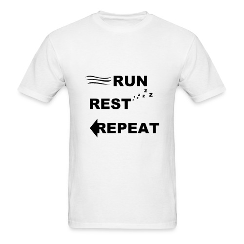 Run, Rest, Repeat (Men's) - Men's T-Shirt