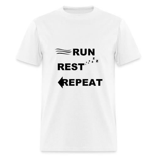 Run, Rest, Repeat (Men's) - Men's T-Shirt