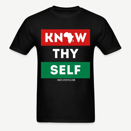 Know Thy Self - Men's Red, Black, and Green T-shirt - Men's T-Shirt