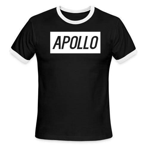 Black & White Ringer Shirt Text - Men's Ringer T-Shirt