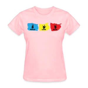 Peace - Love - Rock: Pink - Women's T-Shirt