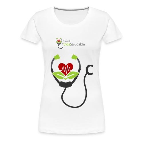 CANAL VIDA SALUDABLE: Premium T-Shirt Para Damas - Women's Premium T-Shirt