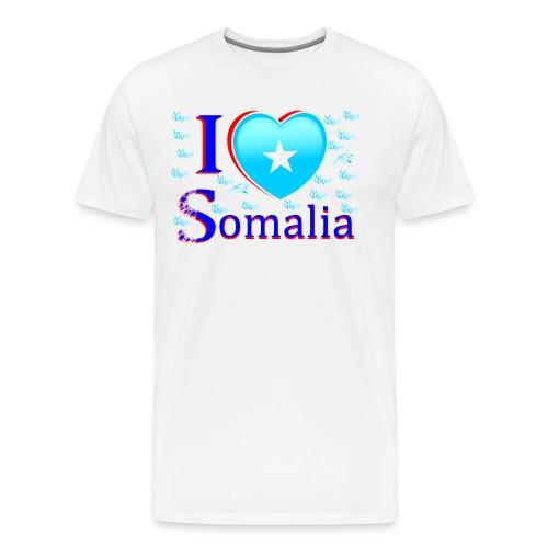 ilove somalia1 - Men's Premium T-Shirt