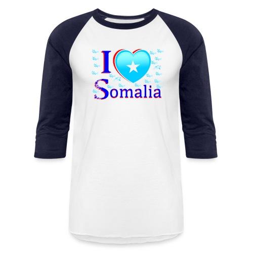 ilove somalia 3 - Baseball T-Shirt
