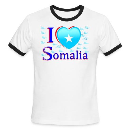ilove somalia 4 - Men's Ringer T-Shirt