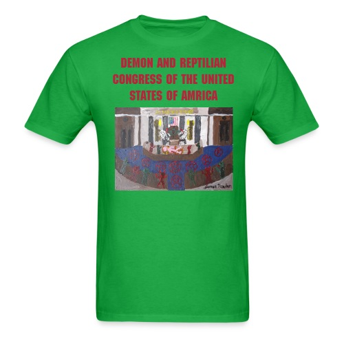 Demon and Reptilian Congress of the United States - Men's T-Shirt