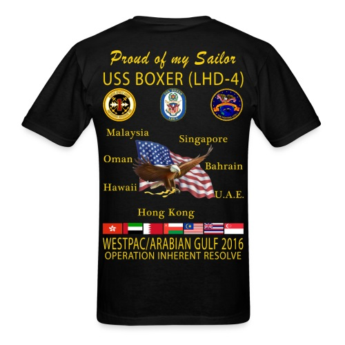 USS BOXER LHD-4 2016 CRUISE SHIRT - FAMILY EDITION - Men's T-Shirt