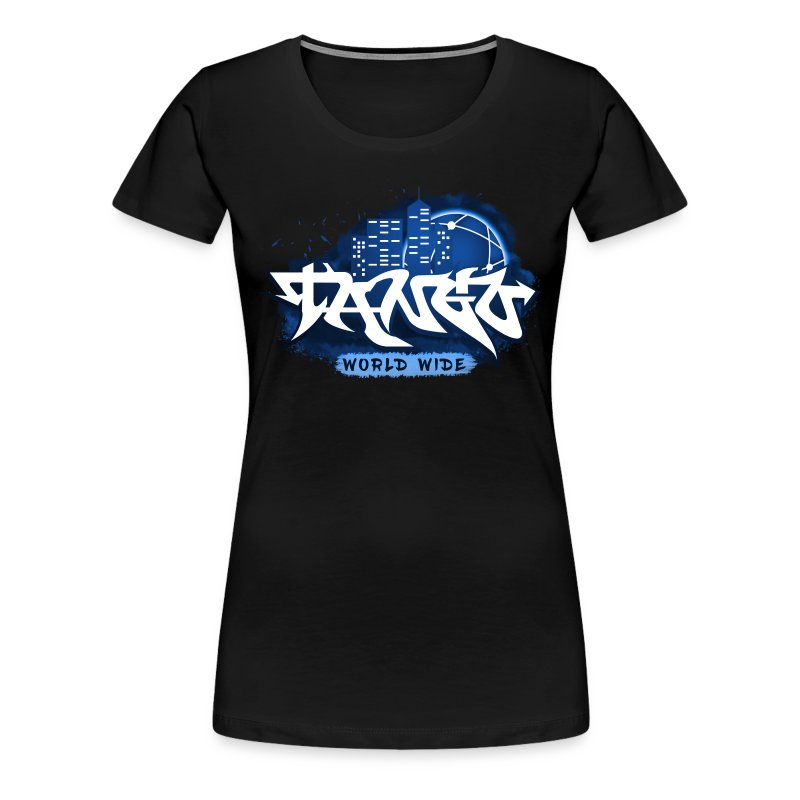 Blue Graffiti - Women's Premium T-Shirt