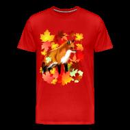 T-Shirts ~ Men's Premium T-Shirt ~ A FOX in FALL