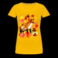 T-Shirts ~ Women's Premium T-Shirt ~ A FOX in FALL