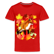 Kids' Shirts ~ Kids' Premium T-Shirt ~ A FOX in FALL